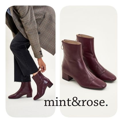 Plain Toe Casual Style Elegant Style Boots Boots