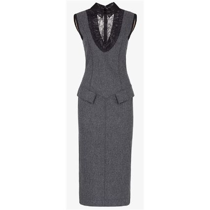 FENDI Paisley Casual Style Tight Wool Cashmere Sleeveless Plain