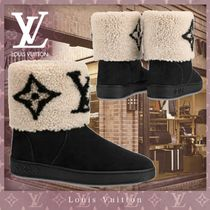 Louis Vuitton MONOGRAM Monogram Round Toe Casual Style Blended Fabrics Bi-color