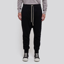 RICK OWENS Unisex Street Style Collaboration Plain Cotton Sarouel Pants