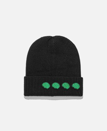 Unisex Street Style Collaboration Oversized Knit Hats