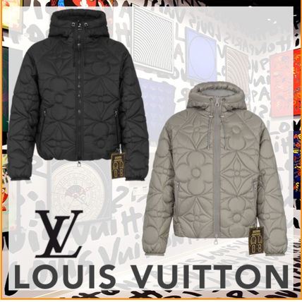 Louis Vuitton MONOGRAM Short Monogram Unisex Street Style Plain Logo Down Jackets
