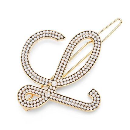 LOEWE Barettes Party Style Brass Elegant Style Clips