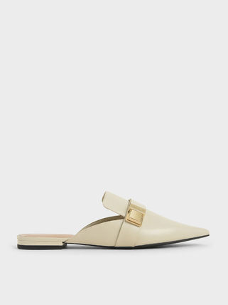 Charles&Keith Platform Casual Style Faux Fur Plain Block Heels Party Style