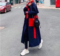 Casual Style Long Office Style Trench Coats