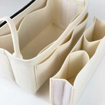 Casual Style Nylon Bag in Bag Plain Office Style