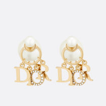 Christian Dior Party Style Elegant Style Bridal Metallic Earrings