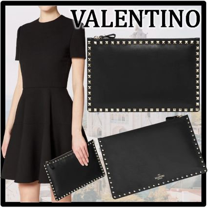 VALENTINO Casual Style Street Style Clutches