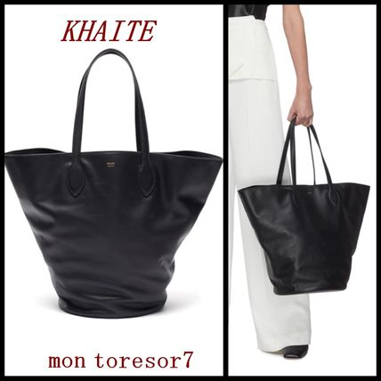 Casual Style Bag in Bag Leather Logo Totes