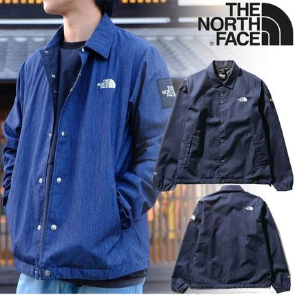 THE NORTH FACE Unisex Denim Street Style Plain Coach Jackets Denim Jackets