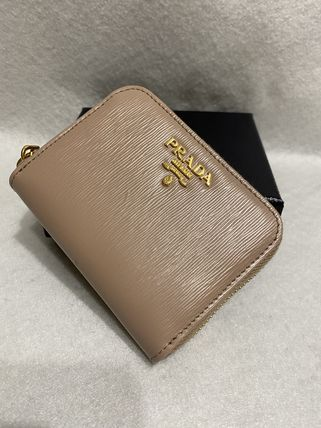 PRADA Plain Leather Small Wallet Accessories