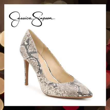 Jessica Simpson Pointed Toe Casual Style Faux Fur Street Style Pin Heels Party Style