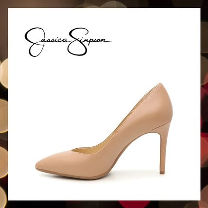 Jessica Simpson Pointed Toe Casual Style Faux Fur Street Style Pin Heels Party Style 3