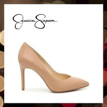 Jessica Simpson Pointed Toe Casual Style Faux Fur Street Style Pin Heels Party Style 4