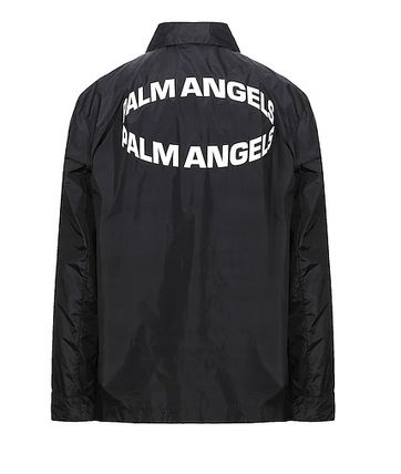 Palm Angels Logo Unisex Nylon Street Style Jackets
