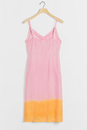 Casual Style Sleeveless Tie-dye V-Neck Party Style