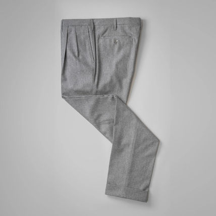 Slax Pants Wool Plain Slacks Pants
