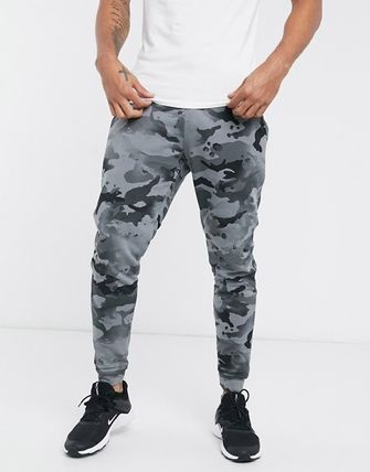 Nike Tapered Pants Printed Pants Camouflage Street Style Plain