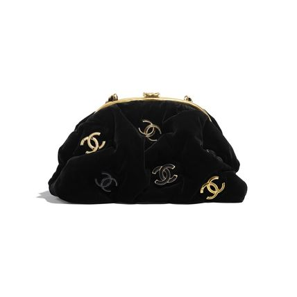 CHANEL 2WAY Chain Party Style Elegant Style Logo Clutches