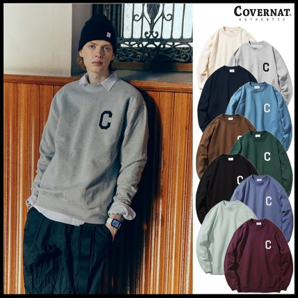 COVERNAT Sweatshirts Long Sleeves Logo Sweatshirts