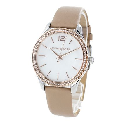 Michael Kors Casual Style Round Quartz Watches Office Style Elegant Style