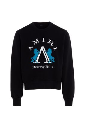 Pullovers Unisex Street Style Long Sleeves Plain Cotton Logo