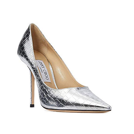 Jimmy Choo Metallic Casual Style Plain Other Animal Patterns Leather