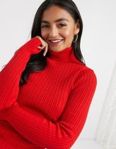 ASOS Casual Style Rib Long Sleeves Plain Party Style