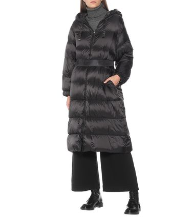 Nylon Long Down Jackets