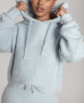 Unisex Street Style Plain Icy Color Loungewear