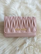 MiuMiu MATELASSE Folding Wallets