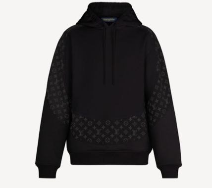 Louis Vuitton MONOGRAM Pullovers Monogram Street Style Long Sleeves Logo Luxury