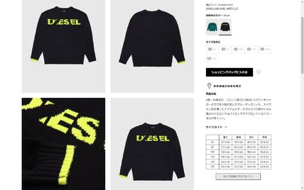DIESEL Sweaters Crew Neck Pullovers Blended Fabrics Street Style Bi-color 11