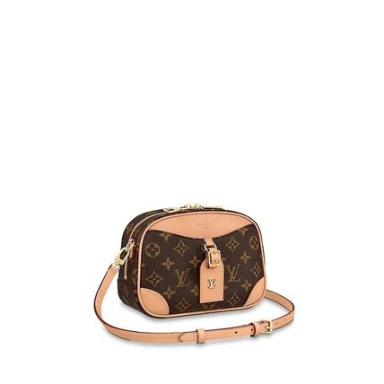 Louis Vuitton MONOGRAM Monogram Canvas Blended Fabrics 2WAY Leather Crossbody Logo
