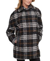 Calvin Klein Short Other Plaid Patterns Casual Style Wool Faux Fur