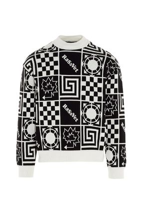 Crew Neck Pullovers Street Style Bi-color Long Sleeves