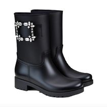 Roger Vivier Plain PVC Clothing With Jewels Logo Rain Boots Boots