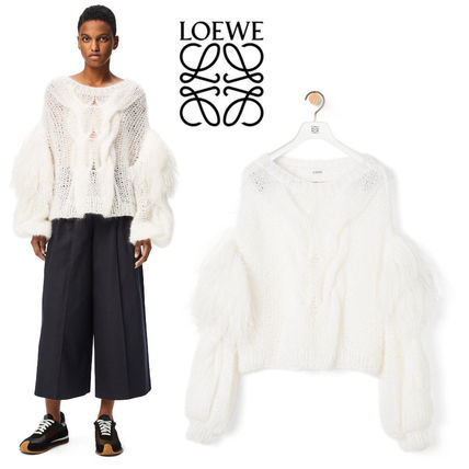 LOEWE Plain Puff Sleeves V-neck & Crew neck