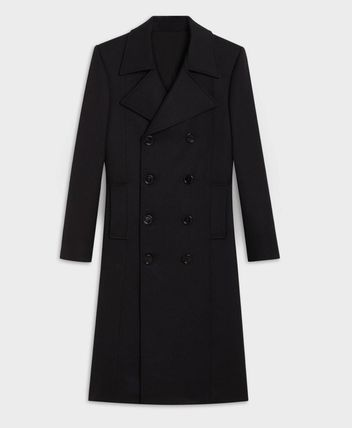 CELINE Wool Peacoats Coats