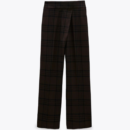 ZARA Other Plaid Patterns Wide Leg Pants