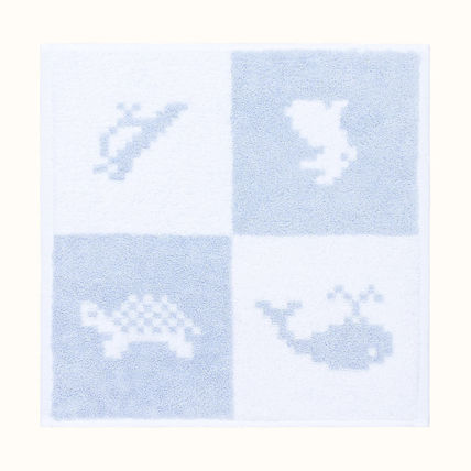 HERMES Unisex Other Animal Patterns Cotton Handkerchief