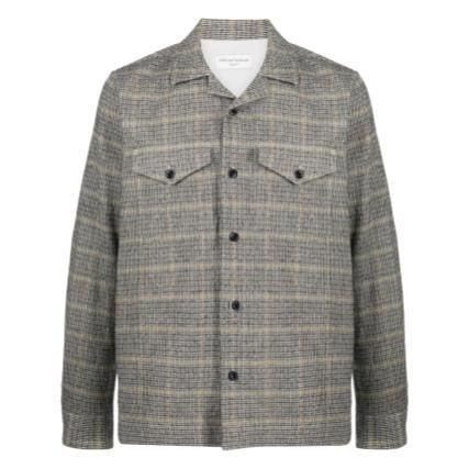 Other Plaid Patterns Wool Logo Jackets