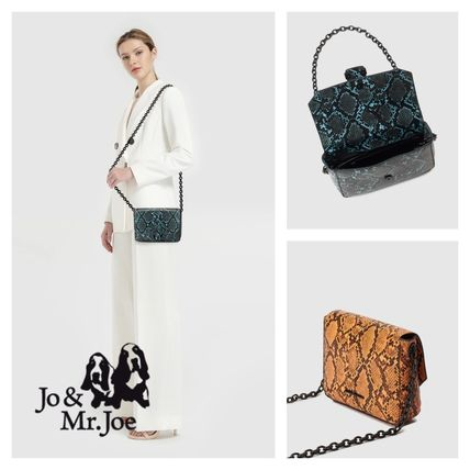 Casual Style Python Elegant Style Shoulder Bags