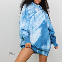 Missguided Short Casual Style Tight A-line Tie-dye Long Sleeves