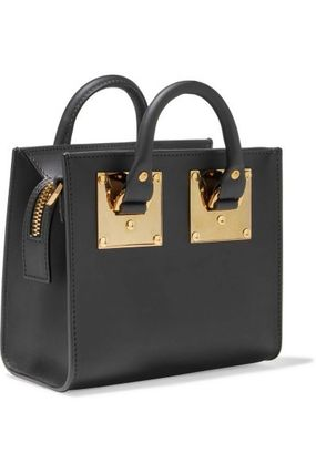 Plain Leather Office Style Elegant Style Shoulder Bags