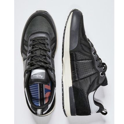 Rubber Sole Street Style Leather Low-Top Sneakers