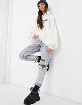 Street Style Long Sleeves Cotton Puff Sleeves