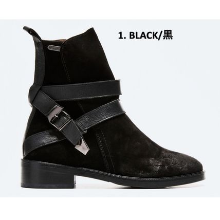 Rubber Sole Street Style Leather Boots Boots