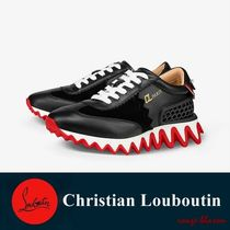 Christian Louboutin Rubber Sole Casual Style Leather Low-Top Sneakers