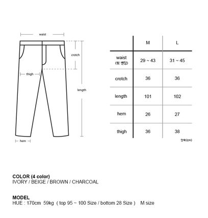 Unisex Corduroy Plain Oversized Pants